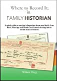Where to record it: In Family Historian 6