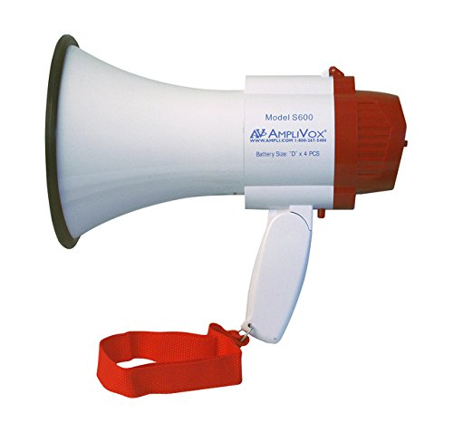 - Mini-Meg Megaphone, 100 Yard Range, 100db, 10W Rechargable, 9.5