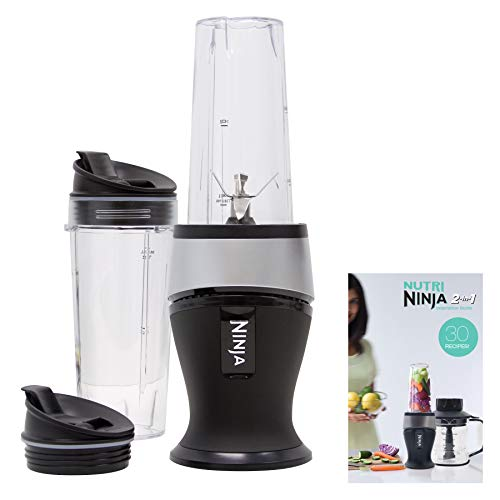 Ninja Personal Blender for Shakes, Smoothies, Food Prep, and Frozen Blending with 700-Watt Base and (2) 16-Ounce Cups with Spout Lids (QB3001SS)