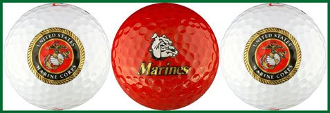 USMC United States Marine Corps Golf Ball Gift Set