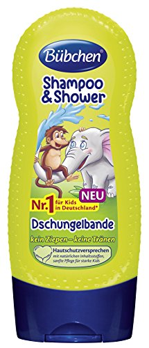 Bübchen Kids Shampoo und Shower Dschungelbande,  4er Pack (4 x 230 ml)
