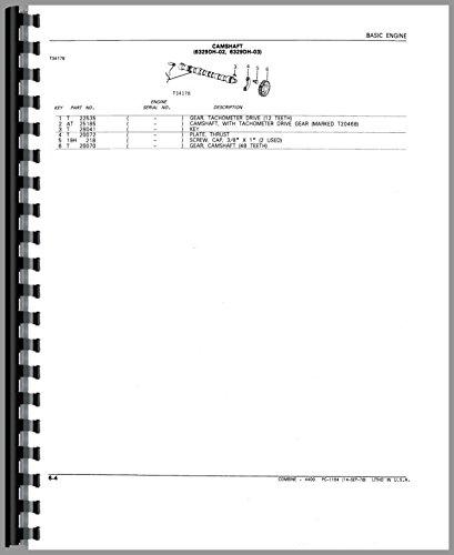 John Deere 4400 Combine Parts Manual