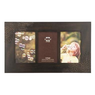 Prinz Perry Vine Wood Photo Frame, 3/4 by 6-Inch, Espresso