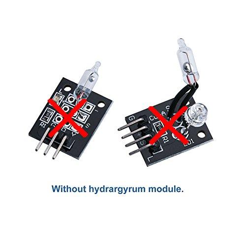 ELEGOO Upgraded 37 in 1 Sensor Modules Kit with Tutorial for Arduino UNO R3 MEGA 2560 Nano 2016 new version by ELEGOO (Image #4)