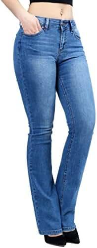Women Fashion Trendy Sexy High Waisted Stylish Flare Bell Bottom Jean