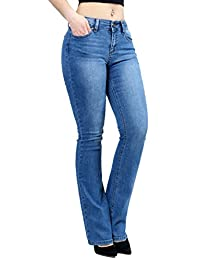 Women Fashion Trendy Sexy High Waisted Stylish Flare Bell Bottom Jean