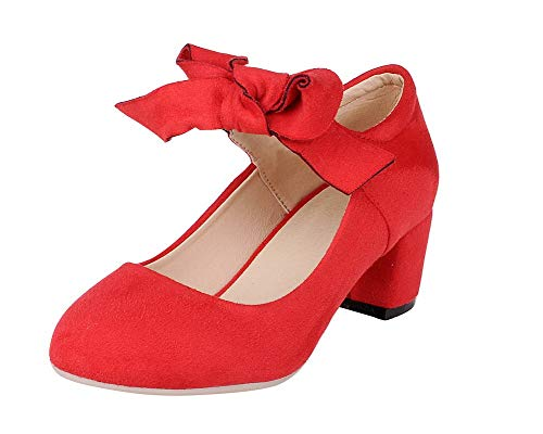 GMMDB008364 Tacco Donna Medio Trafilatura Puro AgooLar Ballet Chiusa Rosso Flats Punta wHz4gq