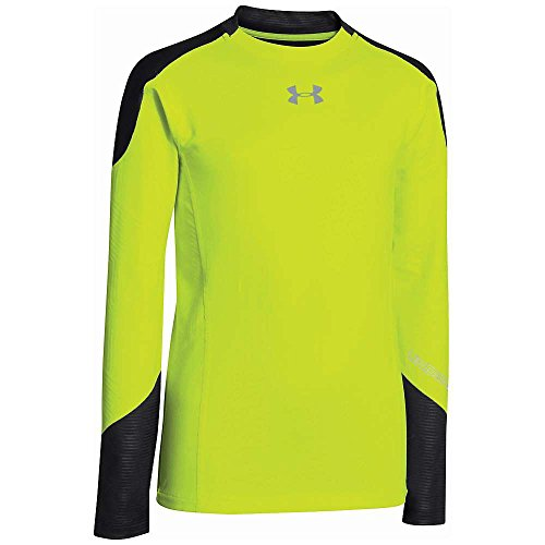 Under Armour Boys' UA ColdGear Infrared Multiplier Mock Shirt High Vis / Reflective XL