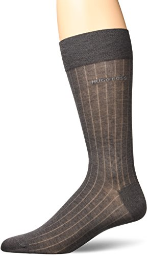 BOSS HUGO BOSS Men's Paul Rs Rib, Medium Grey, 7-13 (Men Socks Boss Hugo 3 Pack)