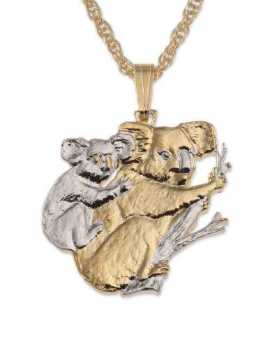 Koala Pendant & Necklace, Australian Coin Hand Cut