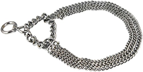 Pictures of Triple Chain Martingale Dog Collar 2.5mm Silver 1