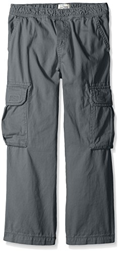 The Children's Place Big Boys' Husky Basic Pull-On Cargo Pant, Gray Steel, 14 Husky