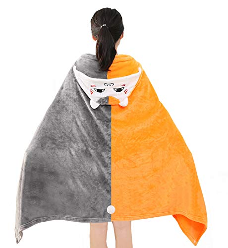 Obtai Natsume's Book of Friends Madara Nyanko Sensei Cape Outfit Flannel Hoodie Blanket Quilt Cat Coat Cloak 62in (Madara Nyanko Sensei) ()