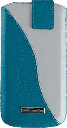 Commander 13794 Twin Case für Apple iPhone 4/4S/5/5C/5S Größe M türkis/creme