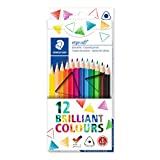 Staedtler Ergosoft 12 Triangular Coloured Pencils