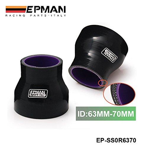 EPMAN 2.48'-2.75' 63mm-70mm Turbo Intake Silicone Straight Reducer Hose Pipe Coupler ( Black With Purple) RUIAN EP INTERNATIONAL TRADE CO. LTD