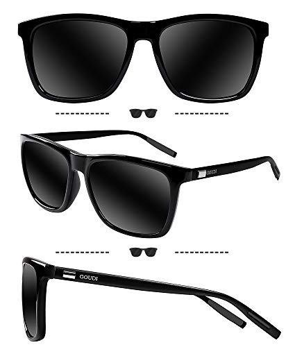 5414184b0dcd0 Polarized Sunglasses For Men Women-GOUDI Vintage Men Women Sunglasses Al-Mg  Metal Frame