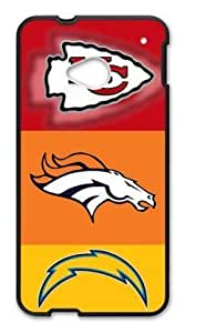 Hoomin San Diego Chargers Denver Broncos Kansas City Chiefs HTC One M7 Cell Phone Cases Cover Popular Gifts(Laster Technology)