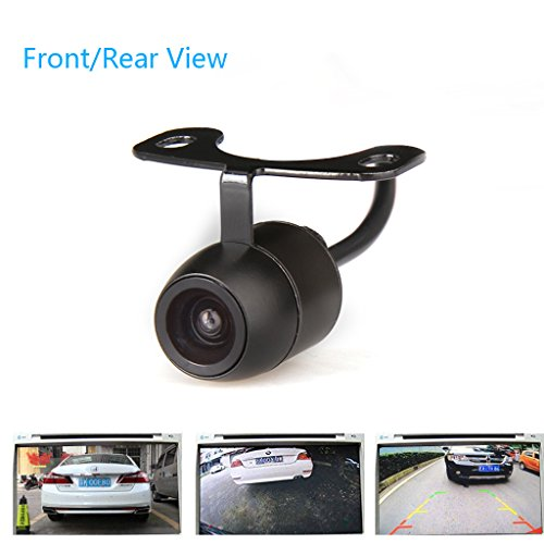 CAR ROVER Night Vision Front/Rear View Camera and Parking Camera 170 degree Universal Waterproof 1/4 Color CCD Imaging Chip Waterproof Truck Car Rear View Camera, 16.5mm, Black