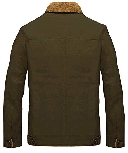 Long Coat Khaki Huixin Coat Outerwear Jackets Plus Apparel Warm Sleeve Jacket Lapel Men's Breasted Velvet Outwear Thick Single 1 vqT6v