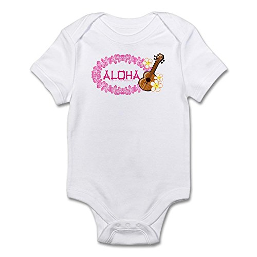 CafePress Ukulele Lei - Cute Infant Bodysuit Baby Romper (Ukulele Lei)