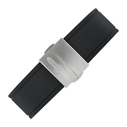 Zeppelin herr kronograf kvarts klocka med gummi armband 72922