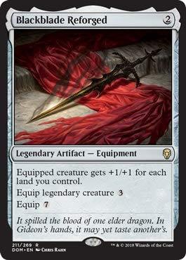 Dominaria Magic The Gathering Blackblade Reforged Blackblade Riforgiata