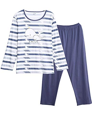 Boys Loungewear - Big Boys Cute Loose Long Sleeve Cotton Pajamas Loungewear Set(10y-18y)