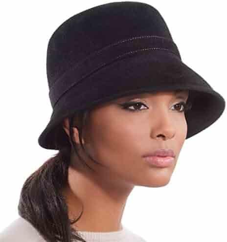 Eric Javits Luxury Designer Women s Fashion Headwear Hat - Hillary - Black f99769fa7e60