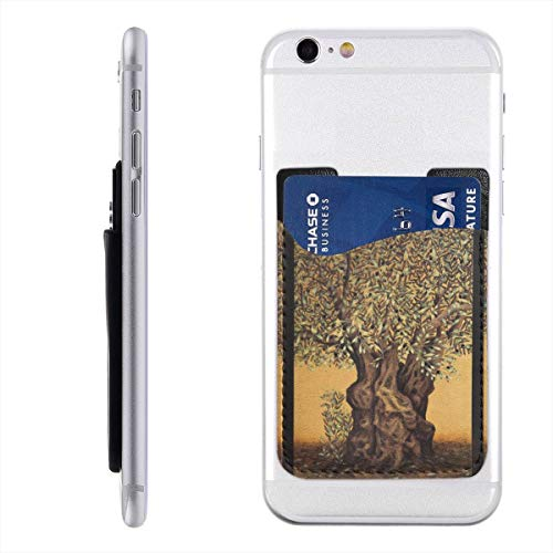 (Triptych of an Old Mature Olive Tree Cell Phone Pockets Pouch Card Holder Wallet for Back of Phone Ultra-Slim 3M Stick On Phone)