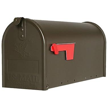 Gibraltar E100BZ0 Standard Size Galvanized Steel Rural Mailbox, Bronze