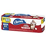 Charmin Ultra Strong Toilet Paper, 20 Mega Rolls (Equal to 80 Regular Rolls)