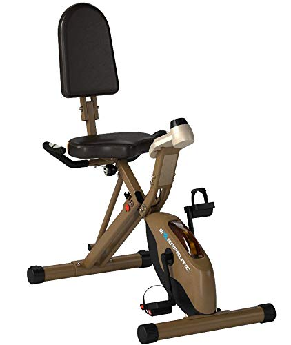 Exerpeutic Gold 525XLR Folding Recumbent Exercise Bike, 400 lbs by Exerpeutic (Image #7)