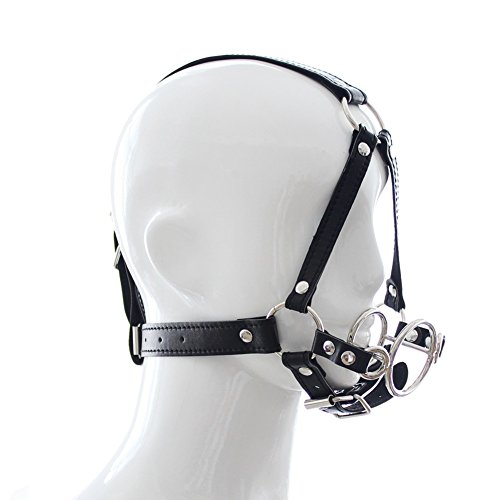 Raycity Open Mouth Gag Head Harness Bondage Fetish Restraint Adults Sex Toys by Raycity