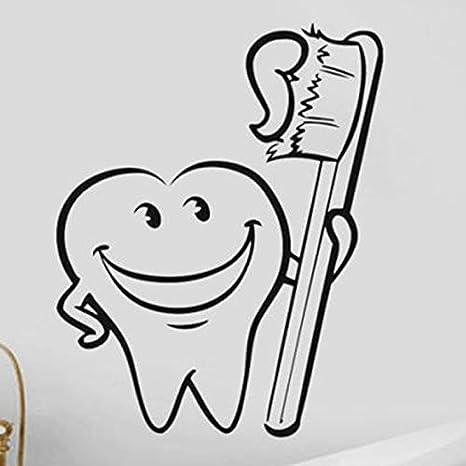Diente dientes pegatina dentista calcomanías calcomanías ...