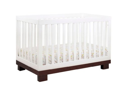 babyletto Modo 3 in 1 Crib with Toddler Rail EspressoWhite