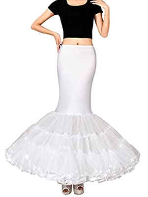 Edith qi Women's Trumpet Mermaid Bridal Petticoat Crinoline Slips Underskirt