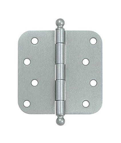 4 in. x 4 in. x 0.63 in. Radius Steel Hinge w Ball Tips - Pair (Set of 10) (Polished ()