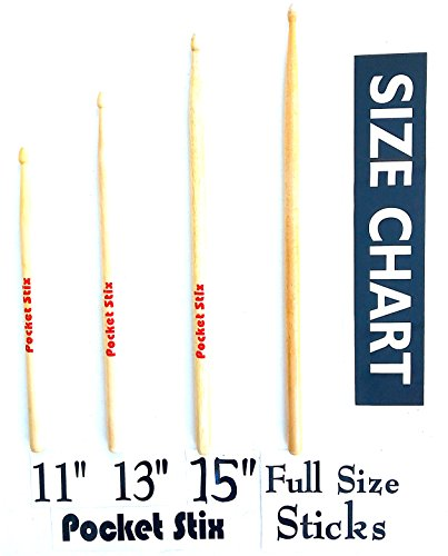 Amazon Pocket Stix 11 5a Maple Drumsticks For Kids Musical