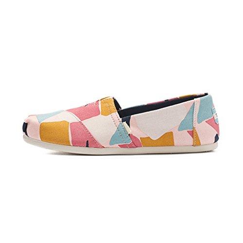 Estate Multicolore di Set Scarpe Donna Casual Scarpe Pigre Sandales di Scarpe Ms Scarpe Tela da Basse Scarpe Scarpe dwTnSqX
