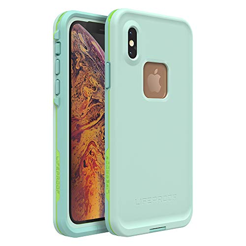 Lifeproof FRĒ Series Waterproof Case for iPhone Xs - Retail Packaging - Tiki (FAIR Aqua/Blue Tint/Lime)