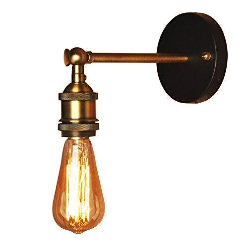 huge discount 18767 4bb66 Vintage Wall Lamp Simple Brass Head Wall light Fixtures Industrial Style  Wall Sconce for House, Bar, Restaurants, Coffee Shop, Club Decoration