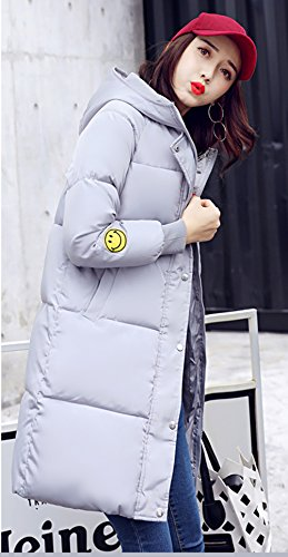 Women's Down Grey Puffer Korean Hooded Ladies Coat Bigood Jacket Long Winter Thick dx166HA