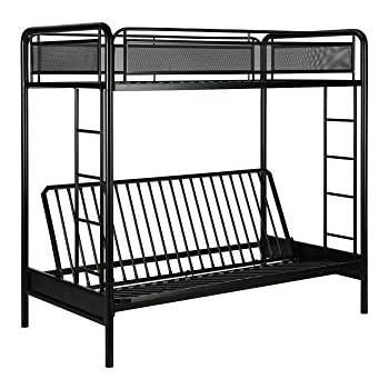 dhp rockstar metal bunk bed black