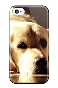 Tpu Case Cover For Iphone 4/4s Strong Protect Case - Dog Background Design