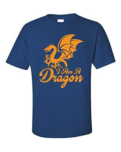 Dragon Unisex T-Shirt - I am A - Animal Themed Gifts Royal Blue