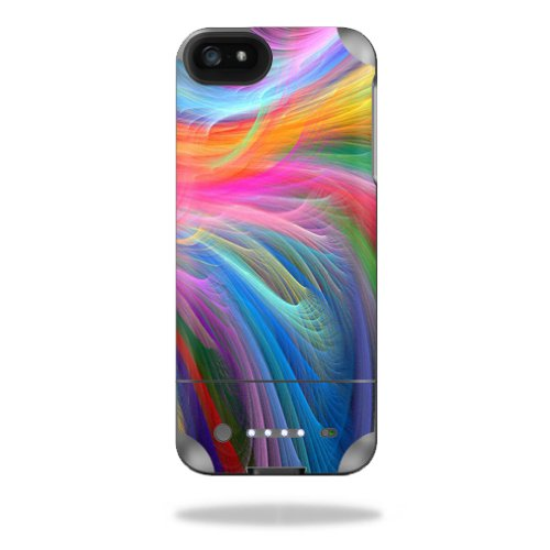 MightySkins Protective Vinyl Skin Decal Cover for Mophie Juice Pack Helium iPhone SE/5s/5 External Battery Case wrap sticker skins Rainbow Waves -  MJHEIP5-Rainbow Waves