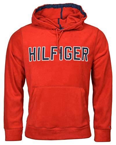 - Tommy Hilfiger Men's Polar Logo Fleece Hoodie - L - Apple Red