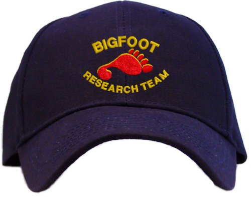 Bigfoot Research Team Embroidered Baseball Cap - Navy
