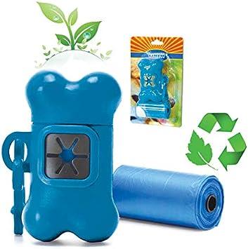 Napi Kit Higiene para Coleira (Ct-01) para Cães, 1 porta-saquinhos, 2 rolos plasticos (cores sortidas)